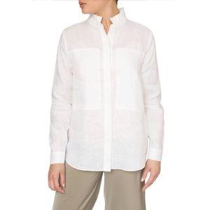 Just Female Isabella Linen Ruffle Collar Shirt Sma